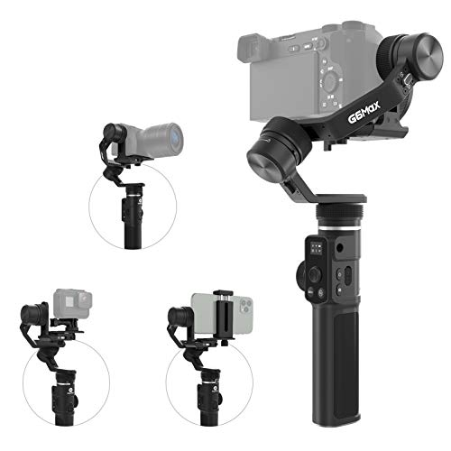 FeiyuTech G6 Max 4-in-1 Gimbal, 3-Axis Handheld Stabilizer, Compatible with Compact...