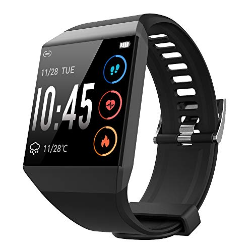 GEBER Smart Watch Compatible with iPhone Android Phones, IP67 Waterproof Fitness Tracker, Smartwatch with All-Day Heart Rate Monitor Sleep Tracker for Men Women
