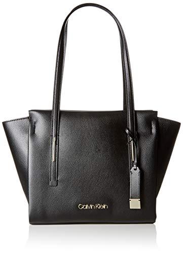 Calvin Klein Jeans Damen Frame Med Shopper Schultertasche, Schwarz (Black), 14x30x35 cm