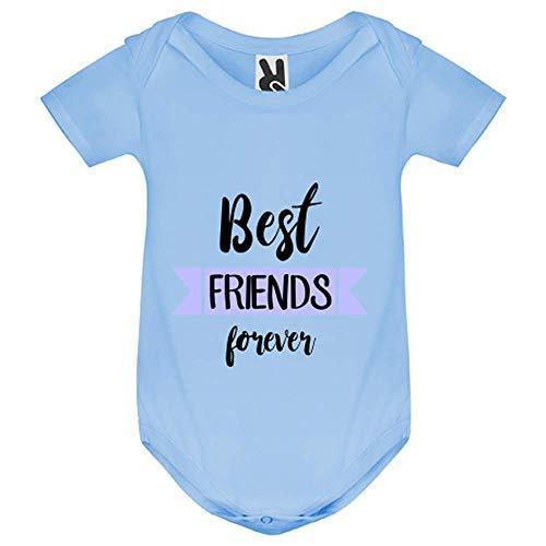 My-Kase Body bébé - Best Friends Amis Bleu - Bébé Garçon - Bleu - 18MOIS