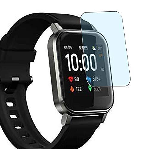Vaxson - Pack de 3 protectores de pantalla antiluz azul compatible con Haylou LS02 smartwatch Smart Watch, protector de película de bloqueo de luz azul [no vidrio templado]