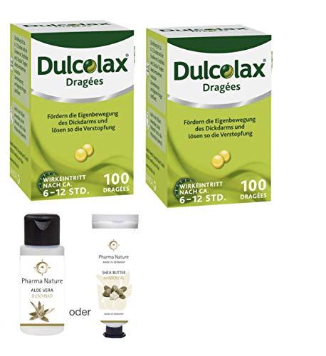 Dulcolax 2 x 100 Dragees Sparset inkl. einer Handcreme o. Duschbad von Pharma Nature