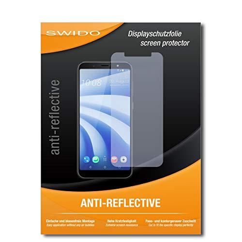 SWIDO Schutzfolie für HTC U12 Life [2 Stück] Anti-Reflex MATT Entspiegelnd, Hoher Festigkeitgrad, Schutz vor Kratzer/Bildschirmschutz, Bildschirmschutzfolie, Panzerglas-Folie