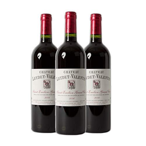 Château Leydet-Valentin - St. Emilion Grand Cru AC Rotwein Bordeaux Frankreich 2018 trocken (3x 0.75 l)