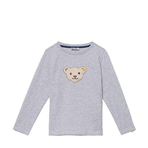 Steiff Langarm T-Shirt À Manches Longues, Gris (Quarry 9007), 95 (Taille Fabricant: 80) Bébé garçon
