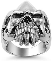 JewelryVolt depot Stainless Steel Skull Ring Max 43% OFF