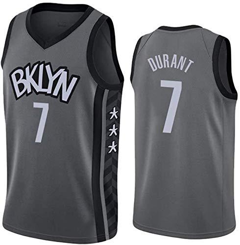 TPPHD Jerseys de Baloncesto de los Hombres, NBA Brooklyn Nets # 7 Kevin Durant CLÁSICO Swingman Jersey, Tela Transpirable Fresca de la Vendimia All-Star Uniformes Unisex Uniforme,7,M