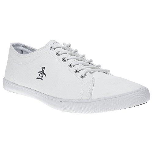 Penguin Mens Brewton Plimsolls Sneakers White 10