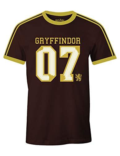 Camiseta Harry Potter Hombre Gryffindor Quidditch Finder 07 Algodón Rojo - L