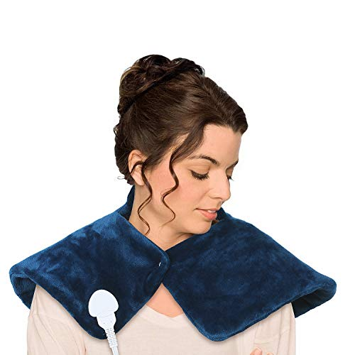 """Deckey Heating Pad for Neck and Shoulder Pain Relief, Electric Heating Pads 18"""" x 25"""", Heated Neck Wrap with Fast-Heating, Moist Heat Therapy for Cramps, 3 Heat Settings, Auto-Off, Machine Washable"""