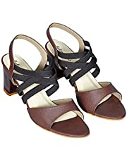Feels on Heels Womens Block Heels Casual Sandals-A572