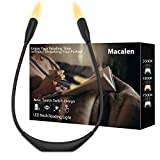 Macalen LED Book Light, Amber Neck Reading Light,Book Lights for Reading in Bed, Rechargeable Reading Lamp, Eye Protection Lightweight Portable Reading Light for Knitting, Mending, Crafts