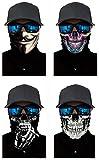 Pañuelo 3D para el cuello, la cabeza, ciclismo, multifunción, cinta para la frente, resistente al viento, para moto, esquí, snowboard, pasamontañas, Halloween, Hombre, T-A 4 unidades.