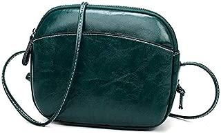 Fashion Single-Shoulder Bags Leisure Fashion PU Leather Slant Shoulder Bag (Black) (Color : Green)