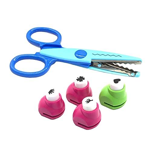 SDENSHI 5 Piezas Perforadora de Borde Perforadoras de Papel Scrapbooking Arte Artesanía en Relieve DIY