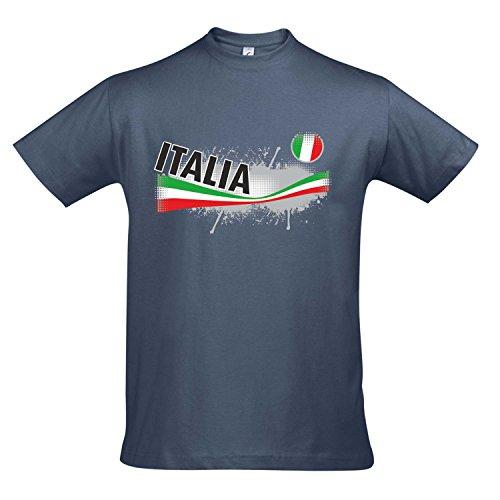 Fanshirt Herren ITALIA, Italien Ländershirt EM / WM Trikot S-XXL , Denim , XL
