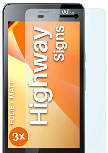 moex Schutzfolie matt kompatibel mit Wiko Highway Signs - Folie gegen Reflexionen, Anti Reflex Bildschirmschutz, Matte Bildschirmfolie - 3X Stück