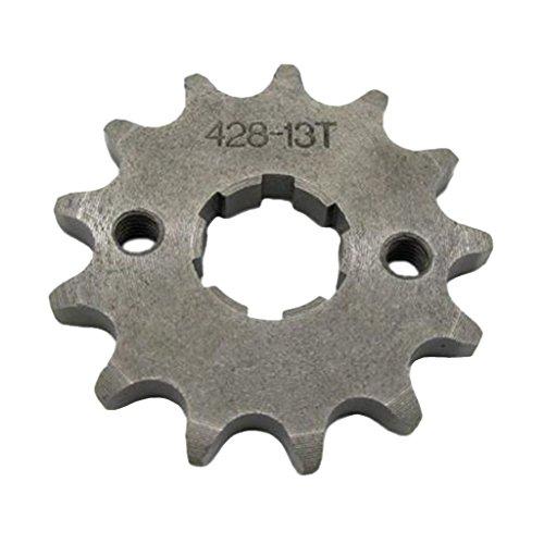 perfk 13 Zähne Metall Kettenblätter Ritzel für Dirt Bike ATV Quad, Rostfrei, Korrosionsbeständig