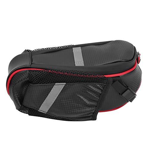 Tomanbery Bolsa de sillín de Gran Capacidad fácil de Usar para MBT o Asiento de Bicicleta de Carretera para recorridos de Larga Distancia(Black Red)