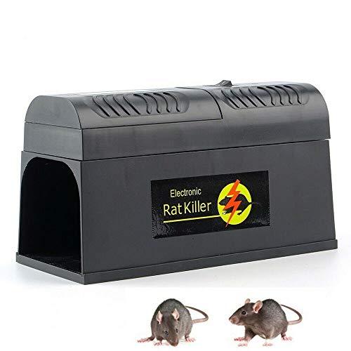 Generic 8000V Elektronische Mäusefalle Rattenfalle Elektrische Mausefalle Multi-Kill für Mäuse Kastenfalle für Garten Haus Sicherer Weg EU