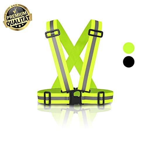 MyToolz hochwertige Sicherheitsweste für Damen und Herren - Praktische größenverstellbare Reflektorweste für das Fahrrad, Auto und Motorrad - Warnweste (Gelb)