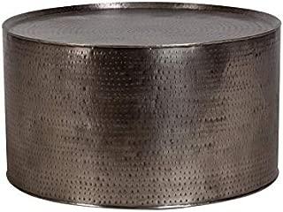 Rotonde Industrial Hand-Hammered Coffee Table - Nickel