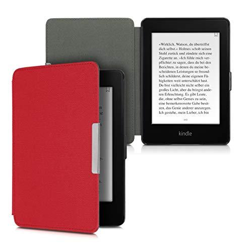 kwmobile Funda Compatible con Amazon Kindle Paperwhite - Carcasa para e-Book de Cierre magnético - Case en Rojo