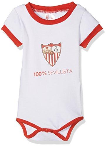 Sevilla CF 06BOD03-03 Bodsev Body, Bebé-Niños, Multicolor (Rojo/Blanco), 03