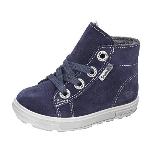RICOSTA Kinder Winterstiefel ZAINI von Pepino, Weite: Mittel (WMS),wasserfest, Winter-Boots Outdoor-Kinderschuhe gefüttert,Nautic,24 EU / 7 Child UK