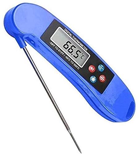 YUYANDE Termómetro de carne de lectura instantánea bluedigital para la parrilla Alimento de cocina Termómetro de caramelo para BBQ Fumador Parrilla Smoker Fry Fry Thermometer, Termómetro de barbacoa m