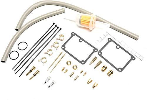 UGUTER PowerSports Carburadores Kit de reparación para 1988-2006 Banshee 350 YFZ350 YFZ350SE YFZ350LE YFZ 350 ATV Tornillo de ralentí J0J Kit de reconstrucción de carburador