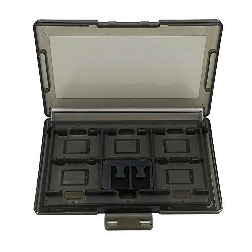 Starnearby 112+ 2Slots Kunststoff Spiel Karten Aufbewahrungsbox für Nintendo Schalter Zubehör Schwarz