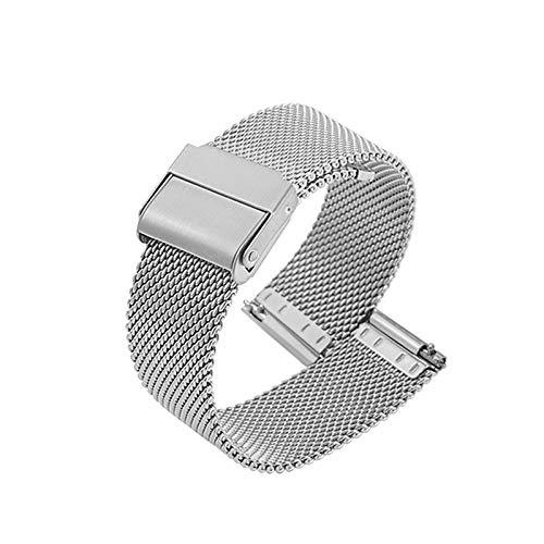 Uhrenarmband Verstellbares Edelstahlnetz Ersatz Uhrenarmband Atmungsaktiv Und Wasserdicht Schnellverschluss,Silver-21mm