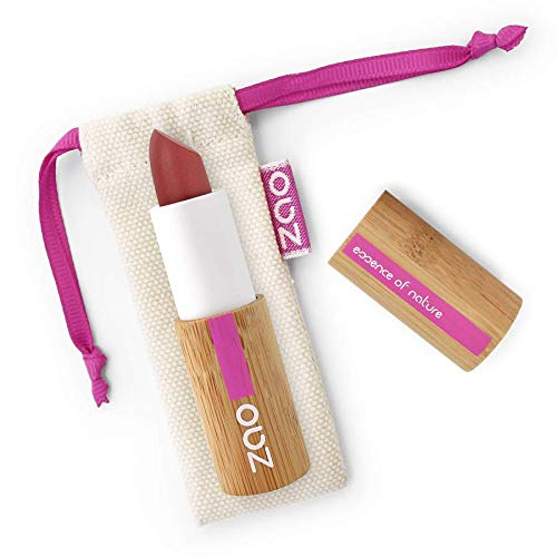 ZAO Matte Lipstick 465 Dark Red (in Refillable / Organic Eco-Certified Bamboo Box) by ZAO essence of nature