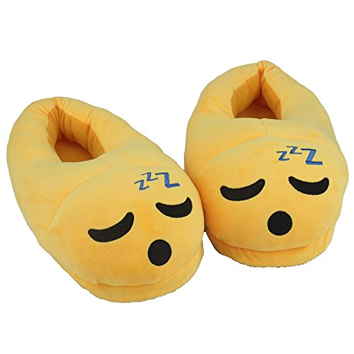 We pay your sale tax Cute Sleepy Emoji Sleep Pantuflas de felpa de algodón suave cálido cómodo para el…