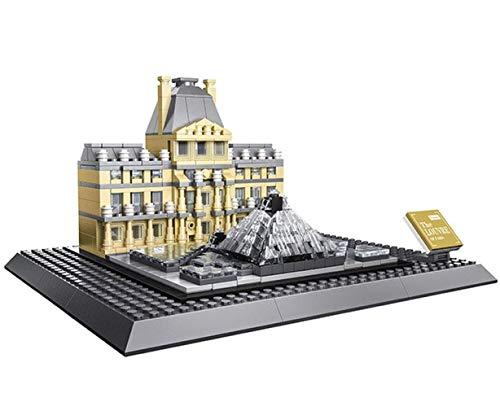 WANGE Louvre Museum. Architektur Modell zum Bauen
