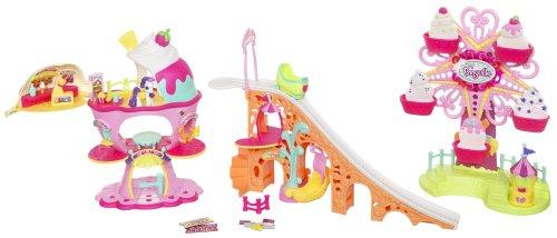 My little Pony - Ponyville - Sweet Sundae Amusement Park - Super Deluxe Playset - Kirmes mit Achterbahn & Riesenrad - mit Licht , Musik & Bewegung & Sweetie-Belle - OVP