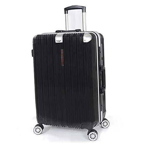 Koffer trolley retro wiel universele hoek metalen koffer met aluminium frame binnen volledig gevoerd 24 inch met scheidingswand voor het eenvoudig opbergen van kleinere voorwerpen geschikt voor