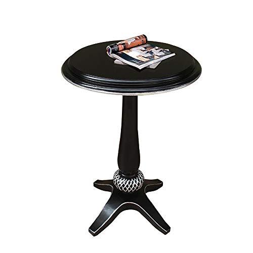 Desk Xiaolin Petite Table Ronde Table Basse TV Stand Vintage Table d'extrémité Salon Table de Loisirs en Bois Moderne 17,3 * 25,9 Pouces (Couleur : Silver)