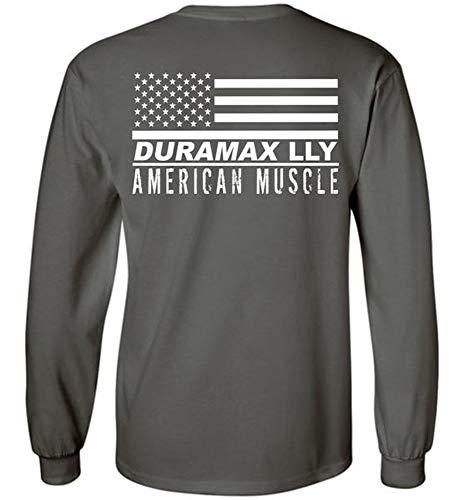 LLY Duramax Chevy GMC Long Sleeve T-Shirt Charcoal