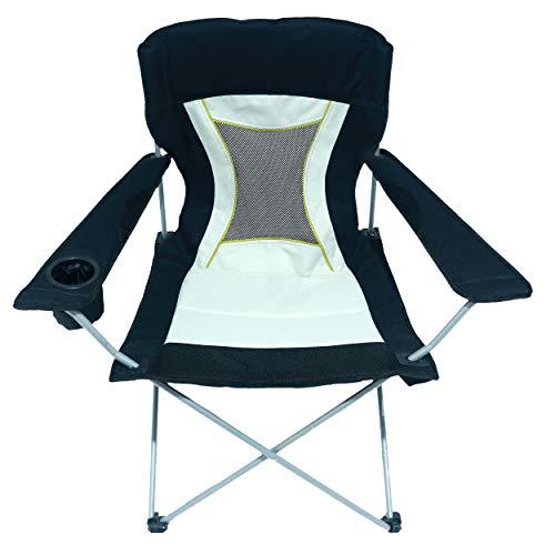 HOMECALL opvouwbare campingstoel, armleuning met bekerhouder, stoel voor buiten