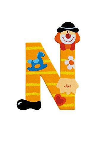 Sevi 81750 - Lettera N Clown, Colori Assortiti