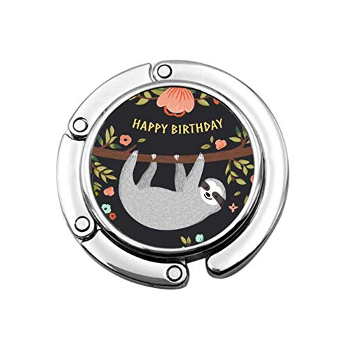 Happy Birthday Card With Cute Animal Best Wish Decorative Purse Hanger Hook Table Hanger Unique Designs Folding Section Storage Bag Hanger Portable