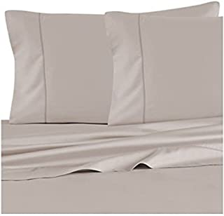 Barbara Barry Feather stitch king size pillowcase pair, Dusk