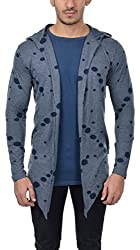 Verscot Mens Cotton Cardigan Blue Grey Indigo Size Large XLarge XXLarge Online