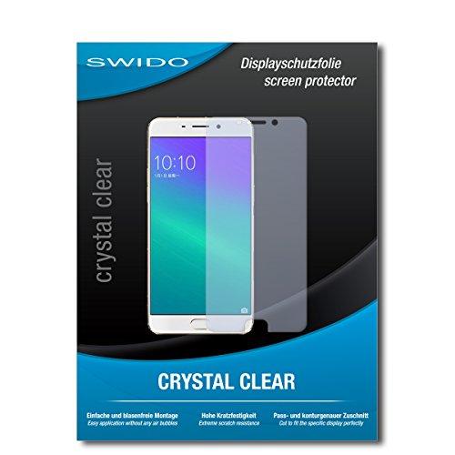 SWIDO Schutzfolie für Oppo F1 Plus [2 Stück] Kristall-Klar, Hoher Festigkeitgrad, Schutz vor Öl, Staub & Kratzer/Glasfolie, Bildschirmschutz, Bildschirmschutzfolie, Panzerglas-Folie