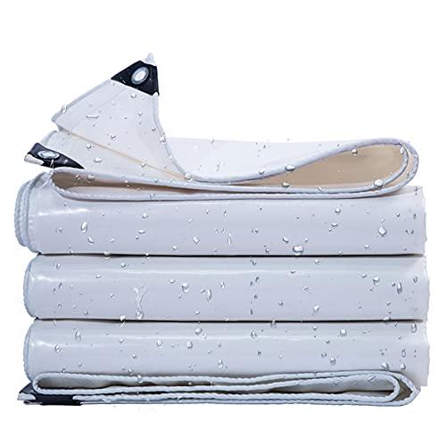 GDMING Lonas Impermeables Exterior, con Ojales Tela toldo Resistencia al desgarro Retardante de Llama Cubierta de Remolque Resistencia a los Rayos Ultravioleta Superior (Color : White, Size : 5x7m)
