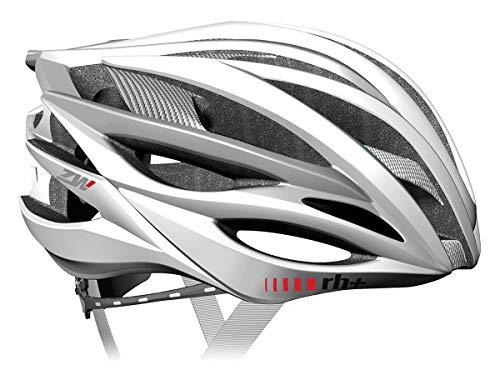 zero rh+ ZW - Casco de Ciclismo Blanco weiß-Silber Talla:Medium