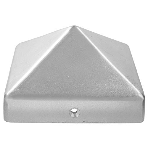 """""""Premium"""" Pfostenabdeckung für Pfosten 120x120 mm, aus Aluminium blank"""