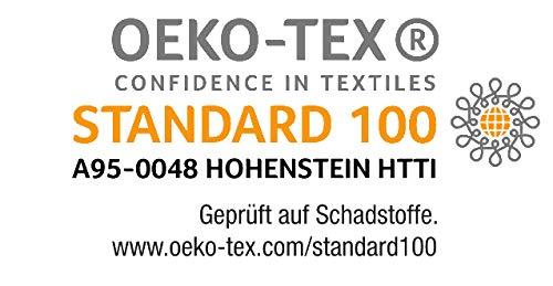 biberna 77144 Jersey-Stretch Spannbetttuch, nach Öko-Tex Standard 100, ca. 140 x 200 cm bis 160 x 200 cm, gold - 5